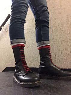 Mode Skinhead, Skinhead Men, Skinhead Boots, Skinhead Fashion, Dm Boots, Punk Boots, Combat Boots, Shoe Boots, Shoes