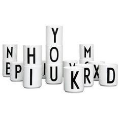 In 1937 the world renowned Danish architect Arne Jacobsen drew a typography for Aarhus City Hall. A Bauhaus inspired typography that despite of its 75 years still looks incredible hot. Arne Jacobsen, Alphabet Mugs, Letter Mugs, Aarhus, Nordic Design, Scandinavian Design, Scandinavian Living, Nordic Style, Lettering Design