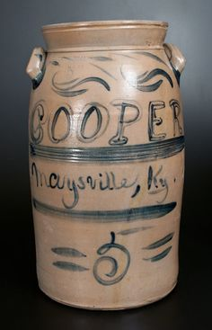 Extremely Rare COOPER / MAYSVILLE, KY Signed A.