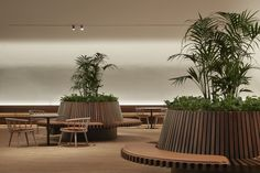 2 Southbank by BVN Artwork and hospitality experience blur the boundaries Australian Interior Design, Interior Design Awards, Restaurant Interior Design, Restaurant Concept, Modern Restaurant, Lounge Design, Cafe Design, Hospital Design, Garden Cafe