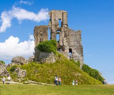 Built in the 11th century by William the Conqueror, Corfe Castle was demolished in the English Civil War