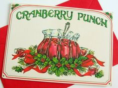 Hey, I found this really awesome Etsy listing at https://www.etsy.com/listing/61311030/vintage-unused-cranberry-punch-christmas