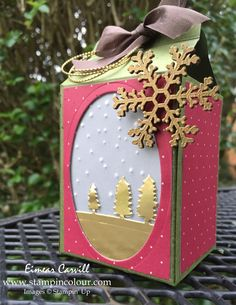 Eimear Carvill www.stampincolour.com Stampin Creative November Blog Hop. Christmas Luminaire with the Sleigh Ride Edgelits