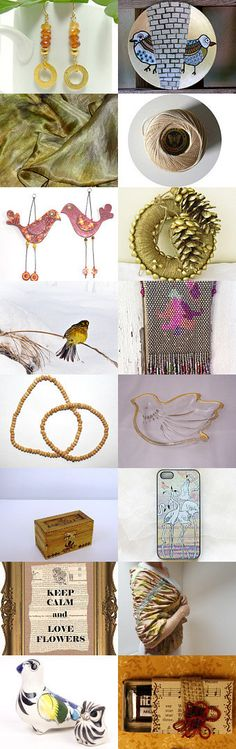 a little bird told me . . . by Susan Rodebush on Etsy--Pinned with TreasuryPin.com