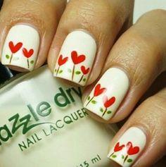 #Uñas decoradas con #flores, #Flower #Nails