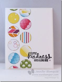 Clean & Simple and BRIGHT Kinda Eclectic Card for the Stampin' Up Display Boards | Northwest Stamper
