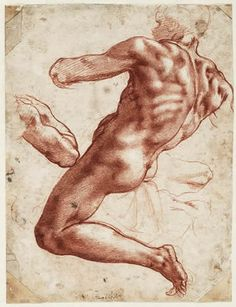 1511, Michelangelo's study of a seated male. All-time, most favorite, fascinating artist.