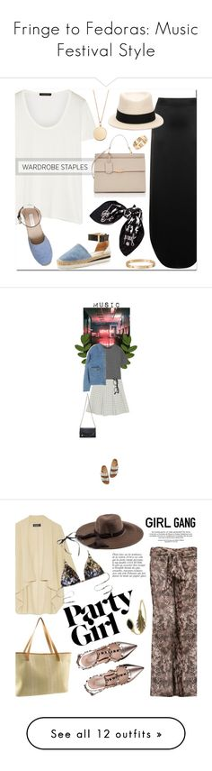 """""""Fringe to Fedoras: Music Festival Style"""" by polyvore-editorial ❤ liked on Polyvore featuring coachella, festivalstyle, The Row, Code Le Vush, See by Chloé, Stella & Dot, Maison Michel, Hermès, Cartier and Balenciaga"""