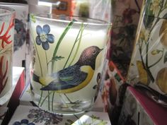 bird candle. so fresh and pretty and smells wonderful