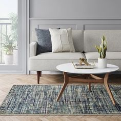 Tufted Geometric Area Rug Gray - Project : Target ~ Tufted rugs add that texture to a rug. Blue brings the relaxation for your living room. Versatile Rug, Decor, Geometric Area Rug, Geometric Rug, Furniture, Striped Rug, Tufted Rug, Home Decor, Living Spaces
