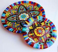 Тарелки ручной работы. комплект посуды из стекла, фьюзинг  Восток - дело тонкое…