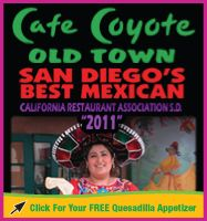 Cafe Coyote in Old Town San Diego, CA