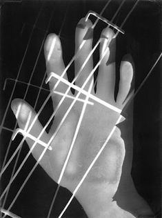 László Moholy-Nagy - Hand Photogram,  He was fascinated by light throughout his career, and photograms offered the opportunity to experiment with the subtlety of light and shade. To create the photogram, he laid everyday objects on light-sensitive paper before exposing them to light. 1926