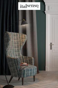 Lubisz fotele - uszaki? Mamy nadzieję, że ten w tkaninie Corallo czeka specjalnie na Ciebie? ✔ Wingback Chair, Accent Chairs, Furniture, Home Decor, Upholstered Chairs, Decoration Home, Room Decor, Wing Chairs, Wingback Chairs