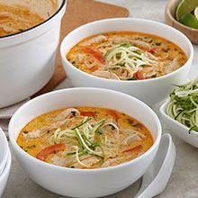 Who wants this for Dinner tonight? 1 WORD= YUM!! Creamy and flavorful, our Easy Thai Coconut Soup is the recipe you've been looking for.