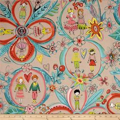 Designed by De Leon Design Group for Alexander Henry, use this cotton print fabric for quilting and craft projects as well as apparel and home décor accents. Dance your way into this ballerina themed print that features different ballet positions. Colors include shades of pink, black, white and aqua.