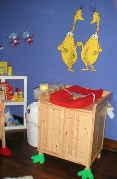 Dr. Seuss nursery - not fond of the piece overall - BUT I LOVE the feet on the furniture!!