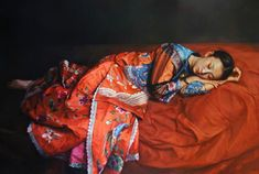 Zhao Kailin Zhao Kailin, a professional full-time artist. He was born in December, in Bengbu, which is a little city located i. Oil Painting Pictures, Cool Paintings, Beautiful Paintings, Painting People, Figure Painting, Woman Painting, Sleep Dream, China Art, Photographs Of People