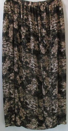 charlotte russe Plus Size Green Black and Beige Sheer Floral Maxi Skirt  XL #charlotterusse #Maxi