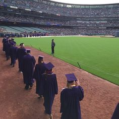Graduating Gators take the field at AT&T Park at Commencement. #SFSU2015