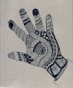 Asian Henna Tatoo...Zentangle Hands