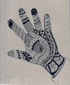 Asian Henna Tatoo...Zentangle Hands