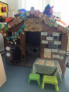 Gruffalo cafe Gruffalo Eyfs, Gruffalo Activities, Eyfs Activities, The Gruffalo, Activities For Kids, Early Years Topics, Early Years Maths, Eyfs Classroom, Classroom Displays