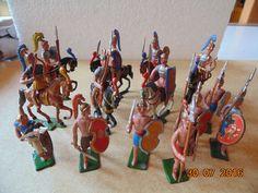 Zinnfiguren Heyde, Haffner o.ä. Perser im Angriff zu Füß und zu Pferd