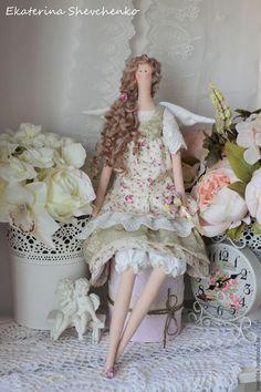 Куклы Тильды ручной работы. Ярмарка Мастеров - ручная работа. Купить Весенний ангел Прованс. Handmade. Бежевый, текстильная кукла