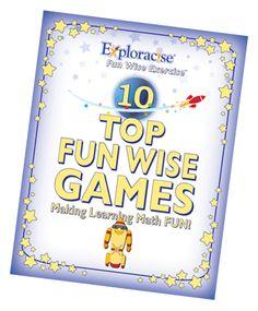 10 Fun Wise Games Making Learning Math Fun eBook at www.exploracise.com