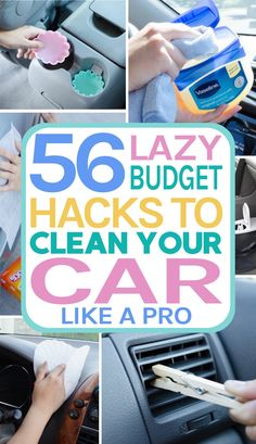 I like clean car seats and I like clean car hacks in general. That's why I'm sharing these 56 car cleaning hacks to help you clean your car easily. Cleaning Car Windows, Diy Car Cleaning, Deep Cleaning Tips, Household Cleaning Tips, House Cleaning Tips, Diy Cleaning Products, Spring Cleaning, Car Products, Cleaning Checklist
