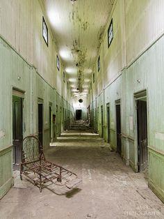 Abandoned asylum. Reminds me of an episode of danny phantom