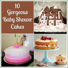 10 gorgeous baby shower cakes! #babyshower #cake