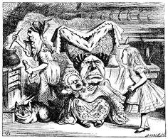 original illustrations from Alice's Adventures in Wonderland, drawn by John Tenniel
