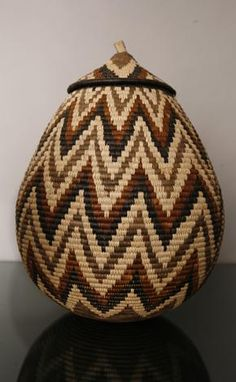 Africa | 'Wedding' basket from the Zulu people of South Africa