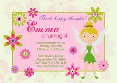 Free Printable Tinkerbell Birthday Party Invitations Litte gids