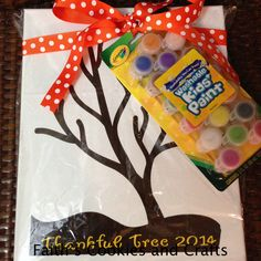 Thumb print Thankful Tree.....Class will add their thumb prints in paint to the tree. #vinyl from #PYP