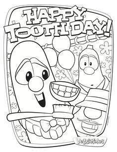 Happy Tooth Coloring Sheet | ... Dental Coloring Books Keep Kids ...