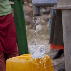Safe water flowing in Ethiopia