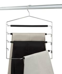 Wonderful Pic Take a look at this Four-Tier Swing Arm Slack Rack – Set of Two by… – Hanger rack Closet Storage, Closet Organization, Organizing, Trouser Hangers, Clothes Hangers, Wooden Brackets, Packing To Move, Plastic Design, Hanger Rack