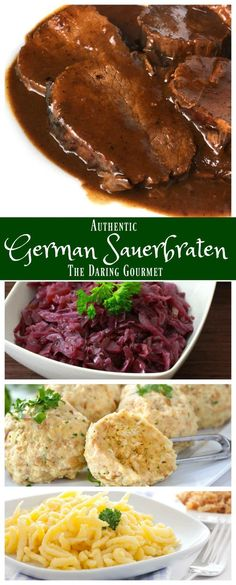 Beef Recipes, Cooking Recipes, Cooking Courses, German Food Recipes, German Recipes Dinner, French Recipes, Chicken Recipes, Traditional German Food, Gourmet
