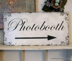 CUSTOM PHOTOBOOTH SIGN w/ Arrow Shabby by thebackporchshoppe