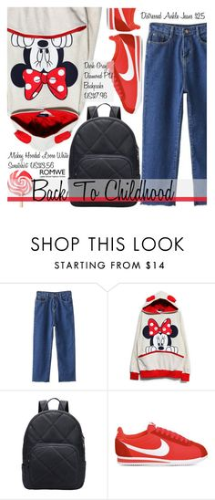 """School Style"" by pokadoll ❤ liked on Polyvore featuring NIKE and romwe"