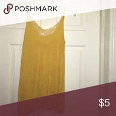 Yellow lace detail Tank Yellow lace detail Tank Tops