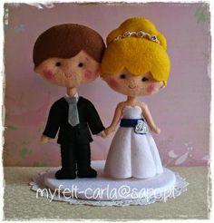 Lá vêm os noivos... | Feltro | Pinterest