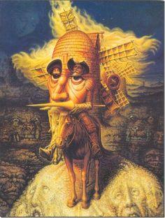 Octavio Ocampo - Don Quixote. I absolutely LOVE Don Quixote.