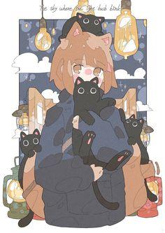 Anime Girl Drawings, Anime Art Girl, Cool Drawings, Cute Art Styles, Cartoon Art Styles, Aesthetic Art, Aesthetic Anime, Kawaii Art, Pretty Art