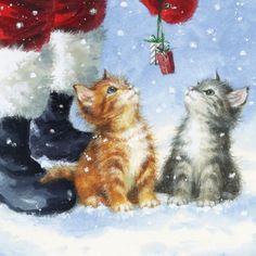 3670 Servilleta decorada Navidad