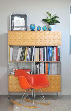 image via modernfindings | Fiberglass Rocker Chair and 420 unit | http://modernica.net/rocker-arm-shell.html