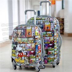 """24"""" inches lovely cartoon trolley suitcase luggage/Pull Rod trunk /traveller case box with spinner wheels"""